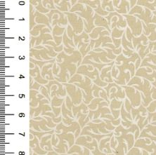 100% Cotton Ivory and White Swirl Floral Print Fabric 44